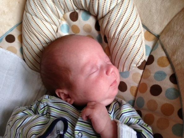 Eli napping
